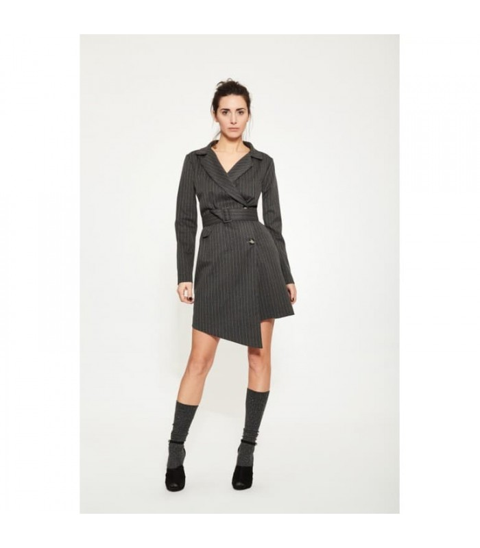 Сукня-піджак сіра в смужку