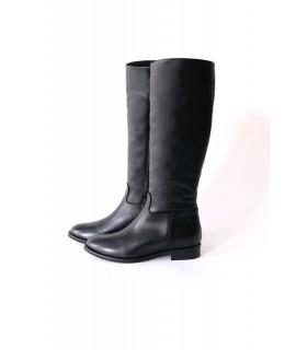 Чоботи чорні з гладкої натуральної шкіри - Respected-Person