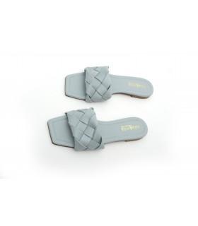 Шльопанці сіро-блакитні з плетінням 1 - Respected-Person