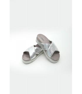 Шльопанці срібні з натуральної шкіри 1 - Respected-Person