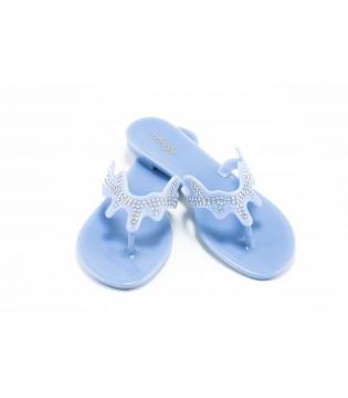 Шльопанці-в'єтнамки блакитні силіконові