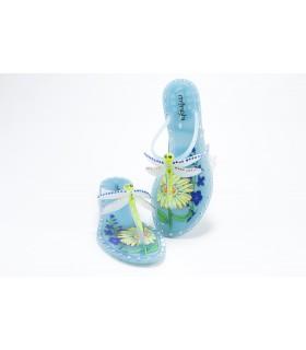 Шльопанці-в'єтнамки блакитні із стрекозою силіконові 1 - Respected-Person