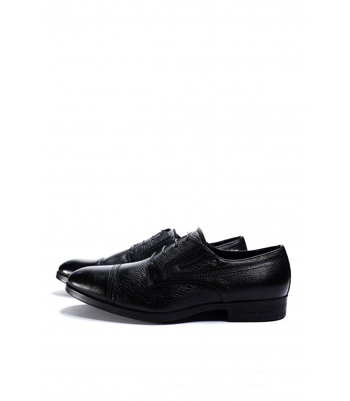 Туфлі-броги з фактурної шкіри