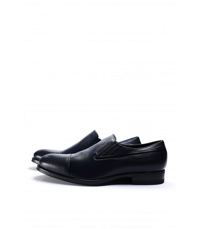 Туфлі сині шкіряні на резинках