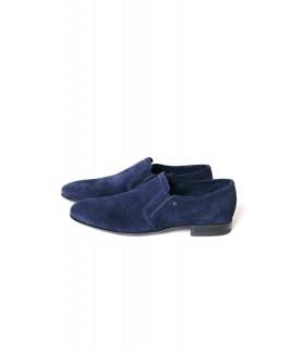 Туфлі сині замшеві з перфорацією