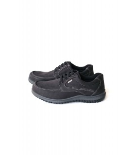 Туфлі чорні чоловічі з нубуку - Respected-Person