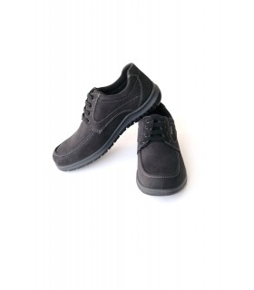 Туфлі чорні чоловічі з нубуку 1 - Respected-Person