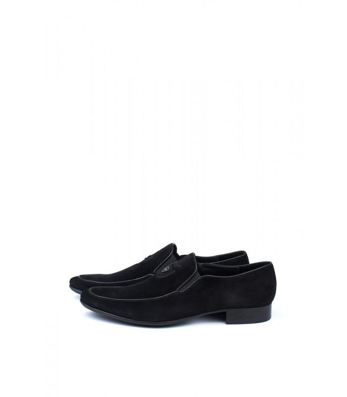Туфлі чорні з натуральної замші
