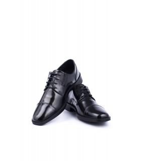 Туфлі чорні з глянцевої натуральної шкіри на шнурівці 1 - Respected-Person