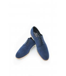 Туфлі сині чоловічі з натуральної замши на світлій підошві  1 - Respected-Person