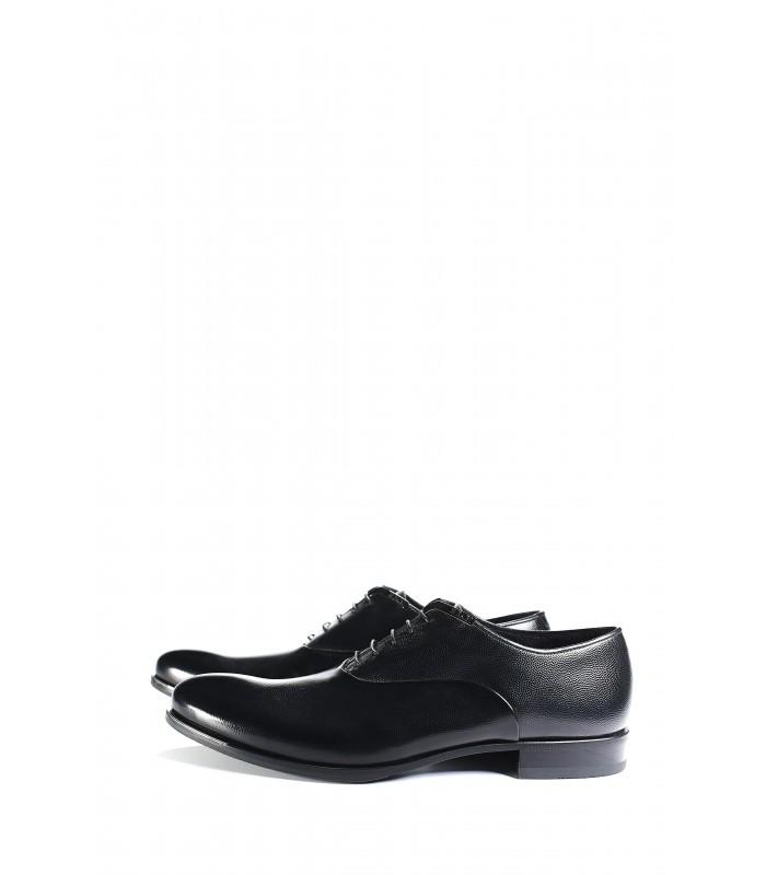 Туфлі чорні із зернистої шкіри