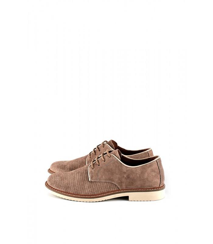 Туфлі бежеві замшеві з перфорацією