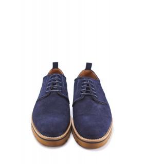 Туфлі чоловічі сині з натуральної замші на шнурівці 1 - Respected-Person