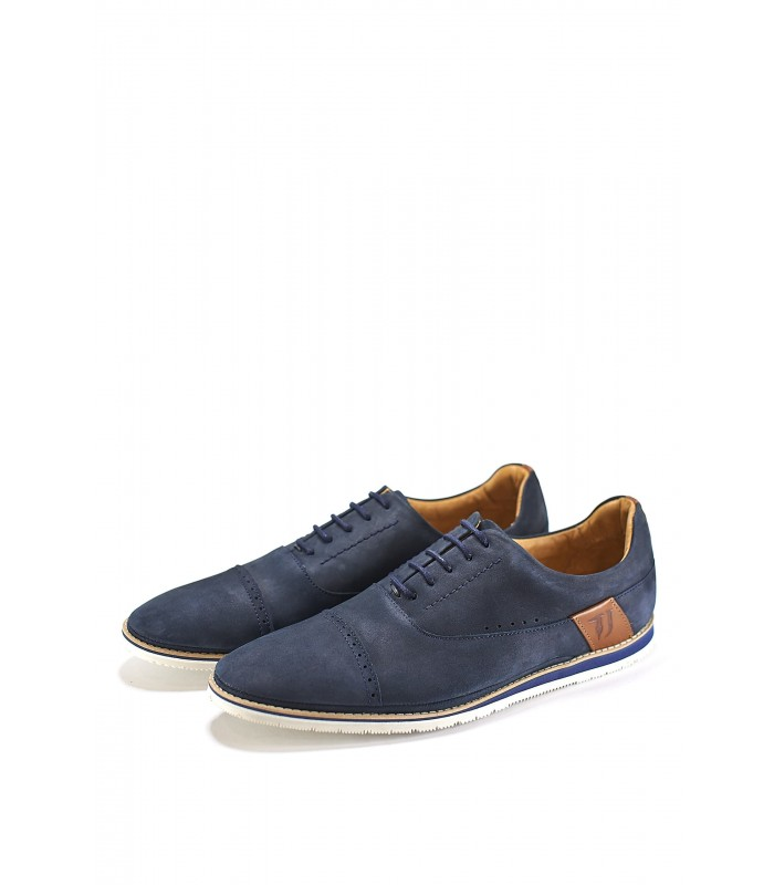Туфлі сині з нубуку