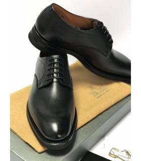 Туфлі чорні чоловічі з напівквадратним носком 1 - Respected-Person