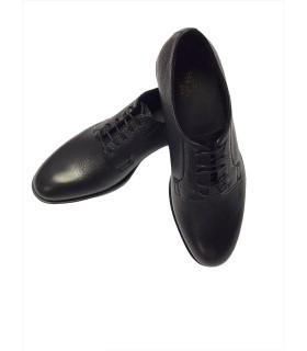 Туфлі чорні з фактурної шкіри 1 - Respected-Person