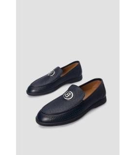 Туфлі чорні з м`якої шкіри з перфорацією - Respected-Person