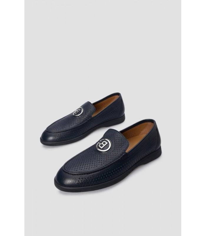 Туфлі чорні з м`якої шкіри з перфорацією