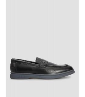 Туфлі чорні чоловічі на хутрі 1 - Respected-Person