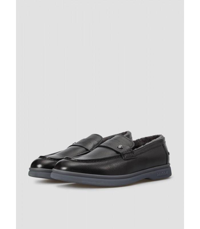 Туфлі чорні чоловічі на хутрі