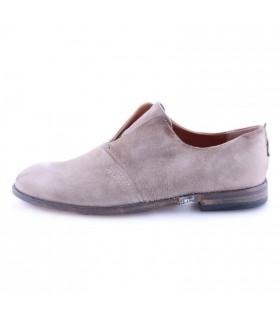 Туфлі-лофери пісочні з вінтажної шкіри 1 - Respected-Person