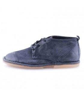Черевики сині з вінтажної шкіри на шнурівці 1 - Respected-Person