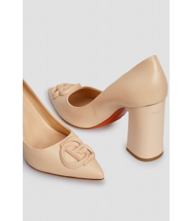 Туфлі пудрові на широкому каблуку 1 - Respected-Person
