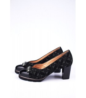 Туфлі чорні комбіновані з лакованим носком - Respected-Person