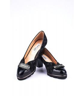 Туфлі чорні комбіновані з лакованим носком 1 - Respected-Person