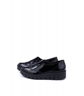 Туфлі чорні лаковані з лапшею - Respected-Person