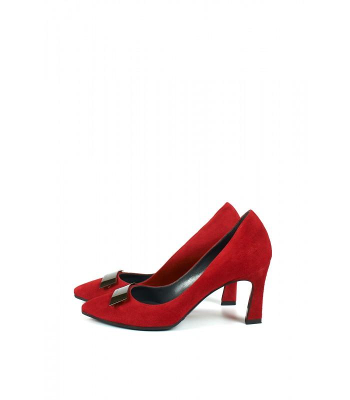 Туфлі червоні замшеві