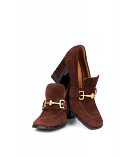 Туфли бордовые замшевые с квадратным носком 1 - Respected-Person