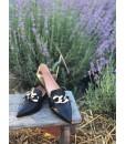 Лофери чорні з гострим носком з ланцюжком 1 - Respected-Person
